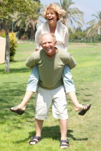 Seniors and Exercise: Seniors having fun